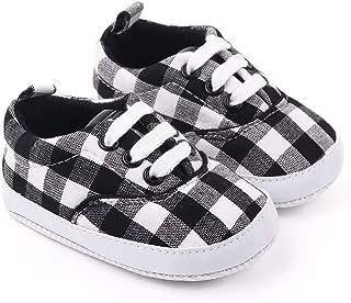 Csfry Newborn Baby Boys' Premium Soft Sole Infant Prewalker Toddler Sneaker Shoes