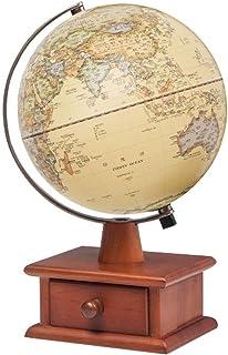 خريطة العالم خريطة العالم العالم من أنتيك ريليف للكرة الأرضية مع حامل صندوق تخزين خشبي وإضاءة ليد ليلية للأطفال، هدية تعلي...