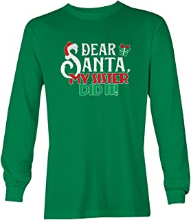 Dear Santa My Sister Did It! - Christmas Youth T-Shirt