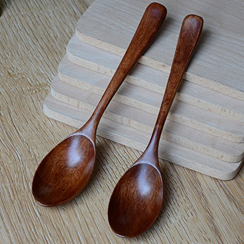 Wooden Spoon Bamboo Kitchen Cooking Utensil Tool Soup Teaspoon Catering for Kitchen Wooden Spoon Fast Ship Drop Shipping