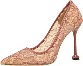 Zanpa Women Fashion Pumps Stiletto Heels Lace