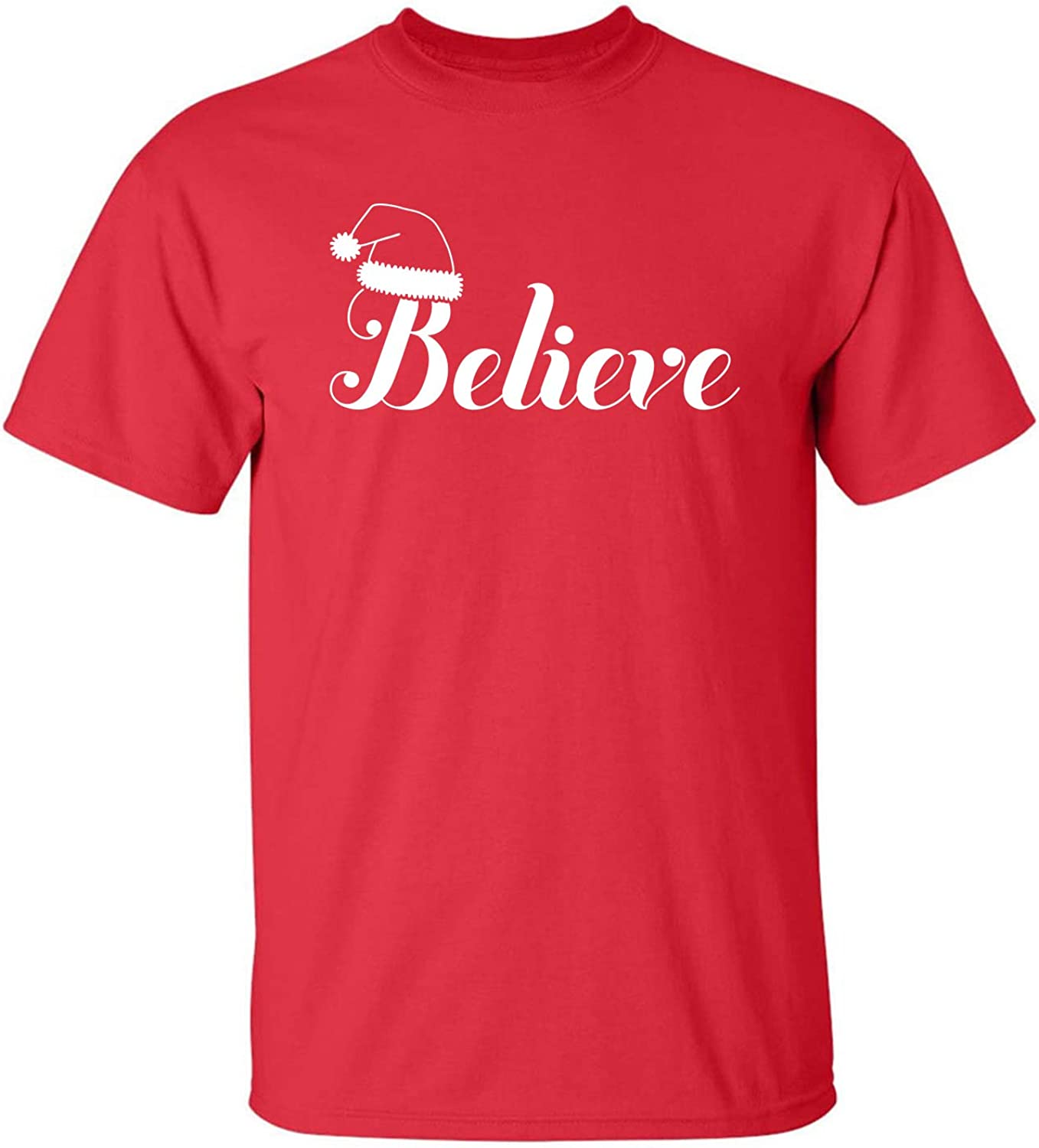 Believe Adult T-Shirt in Red - XXXX-Large