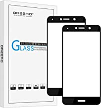 (2 Pack) Orzero Compatible for Huawei Ascend XT2, Elate 4G Tempered Glass Screen Protector, 2.5D Arc Edges 9 Hardness HD Anti-Scratch (Lifetime Replacement Warranty)