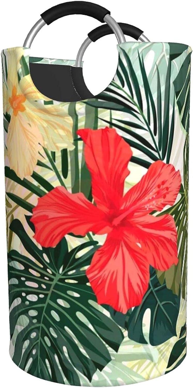 Summer Hawaiian Print Boston Mall Laundry Hamper Waterproof New sales Wit Bag