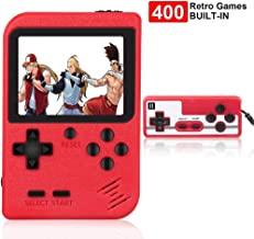 RegeMoudal Handheld Game Console, Retro Mini Game Console, 400 Classical FC Games, Built-in 800mAh Rechargeable Battery, S...