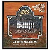 "GHS BANJO> J.D.CROWE SIGNATURE <Jeu de cordes en acier inoxydable ""STAGE"" - PF135 - Medium Light"