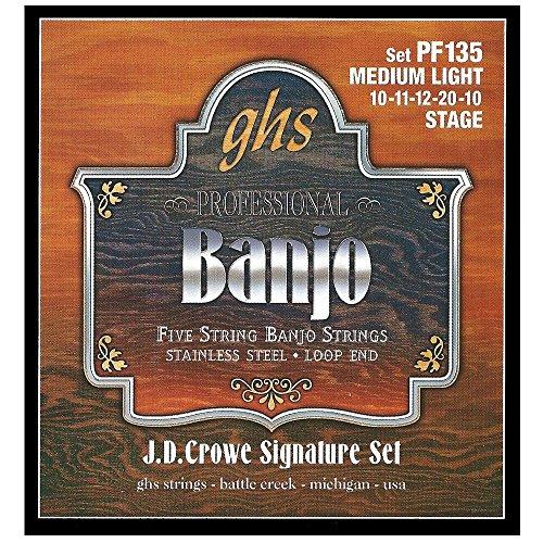 GHS PF 135 Banjo J.D. Crowe Light Stainless Steel 5-string Loop End
