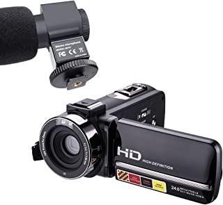 PowerLead Night Vision vídeo Cámara hdv-301 m 1080p 16 X Digital Zoom 3 Inch Pantalla táctil Portable LCD HDV Videocámara para with Microphone