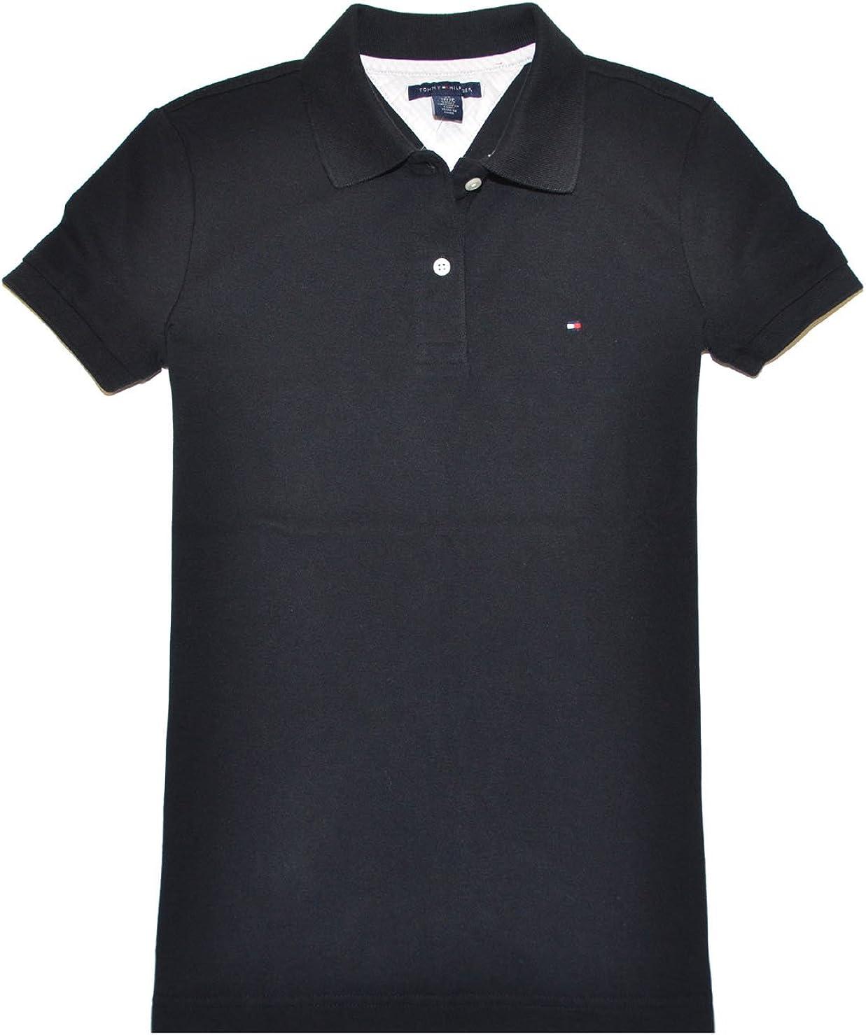 Tommy Hilfiger Damen Short Sleeve Slim Polo T-Shirt