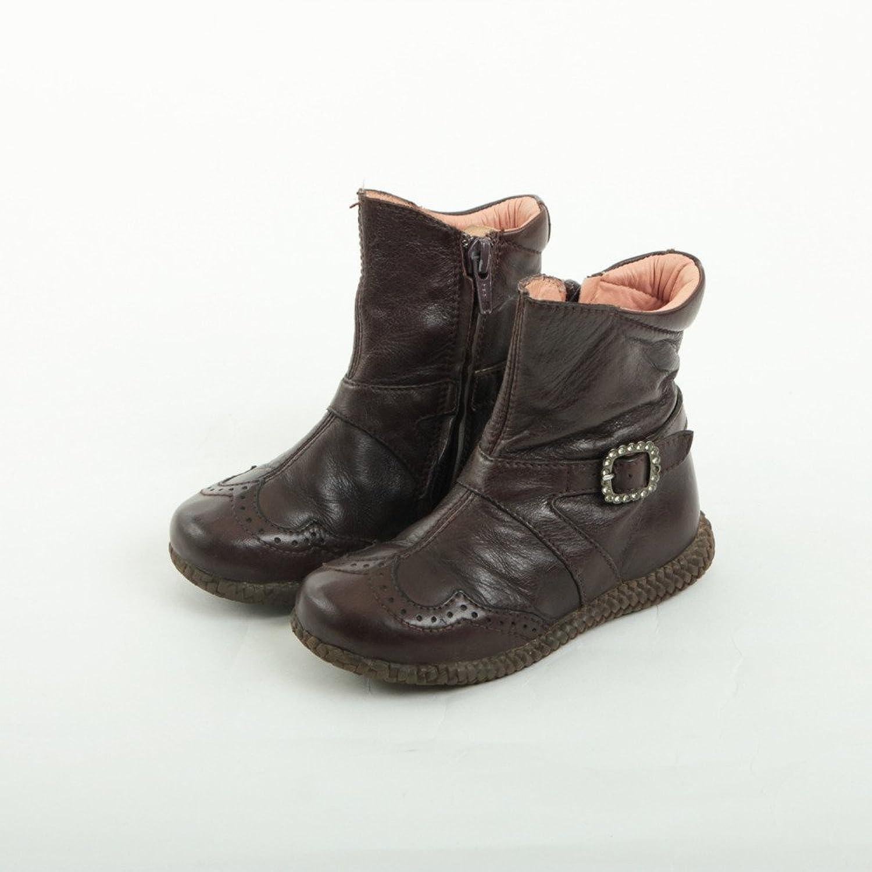 [ウニーサ] 子供用ブーツ ダークブラウン 中古