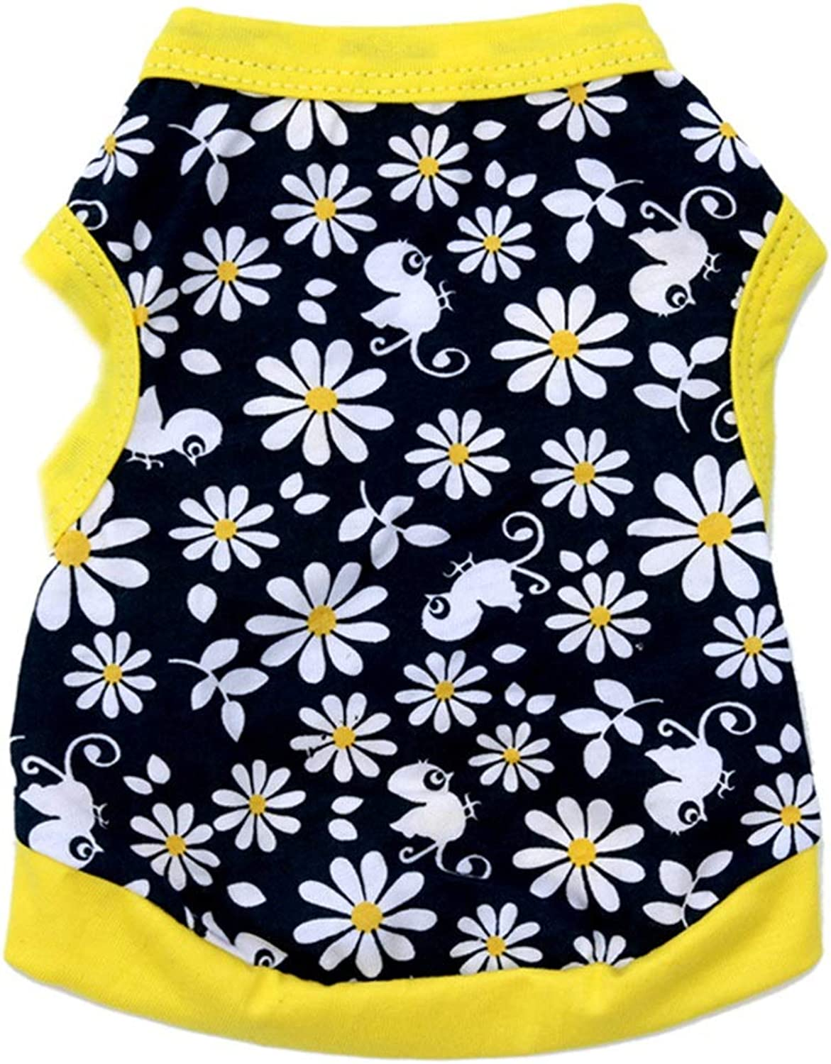 Huayue Dog Clothing Cotton Jersey Pet Vest Breathable and Comfortable (color   As Shown, Size   M)