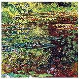 Legendarte - Cuadro Lienzo, Impresión Digital - El Estanque De Waterlily - Claude Monet - Decoración Pared cm. 90x90
