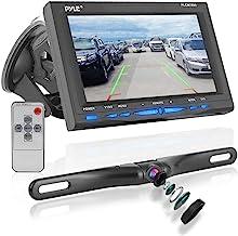 دوربین پشتیبان گیری از عقب - سیستم مانیتور صفحه با خطوط مقیاس ایمنی پارکینگ و کمک معکوس ، ضد آب