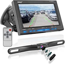 Rear View Backup Car Camera - Screen Monitor System w/ Parking and Reverse Assist Safety Distance Scale Lines, Waterproof & Night Vision, 7