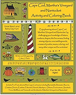 Cape Cod, Martha's Vineyard and Nantucket Activity and Coloring Book