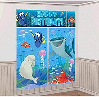 Disney Finding Dory Kids Party Scene Setter Wall Decorations Kit - Kids Birthday and Party Supplies Decoration