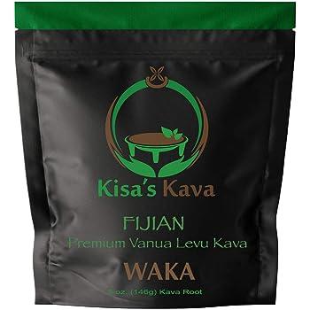 Kisa's Kava - Premium Noble Fijian Kava Root Powder (WAKA) - All Natural Stress Relief - Helps Body Relax to Improve Sleep - 24 Servings - 5 oz.