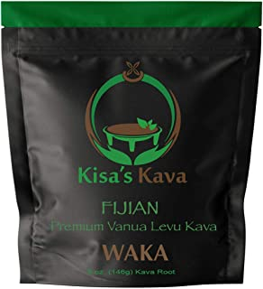 Kisa's Kava - Premium Noble Fijian Kava Root Powder (WAKA) - All Natural Stress Relief - Helps Body Relax t...