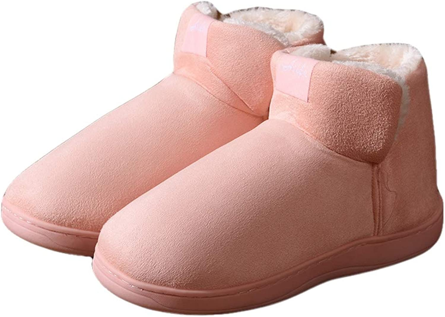 York Zhu Fruffy Home Slippers Winter Warm Plush Bootie Indoor Slip-on Non Slip