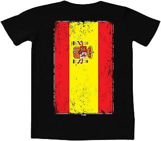 Distressed Spain Flag - Spanish Latino Women's Curvy T-Shirt
