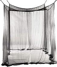 sac de rangement sans produits chimiques ajout/és trous fins Lulalula Ciel de lit Moustiquaire 4 coins en maille de couleur unie Tr/ès grande tente pour lit et porche facile /à installer