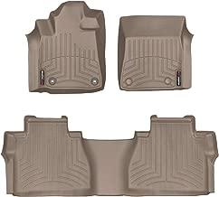 WeatherTech Custom Fit FloorLiner for Toyota Tundra - 1st & 2nd Row (Tan)