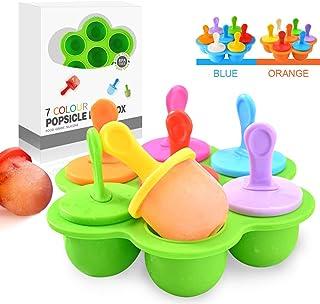 Mini Moldes Helados Silicona, Moldes para Helados y Polos Sin BPA, Poleras Helado Bebe Niños, Ice Cream Mold, Ice Lolly Moulds, Molde Reutilizables para Hacer Helados Caseros