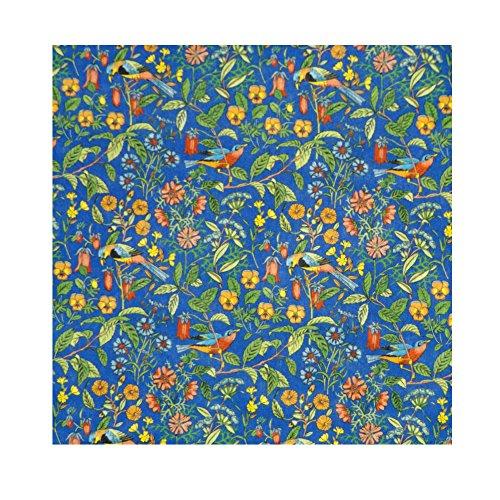 Blue & Multicolor Print 'Catesby' Liberty Lawn Cotton Handkerchief