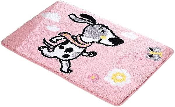 Bath Mat Kids Bath Rugs Bath Mat Rug Bathroom Carpet Door Mat Entering The Door Foot Pad Hall Household Kitchen Mat Non Slip Thick Water Absorption WEIYV Color Dalmatian Pink Size 4060cm