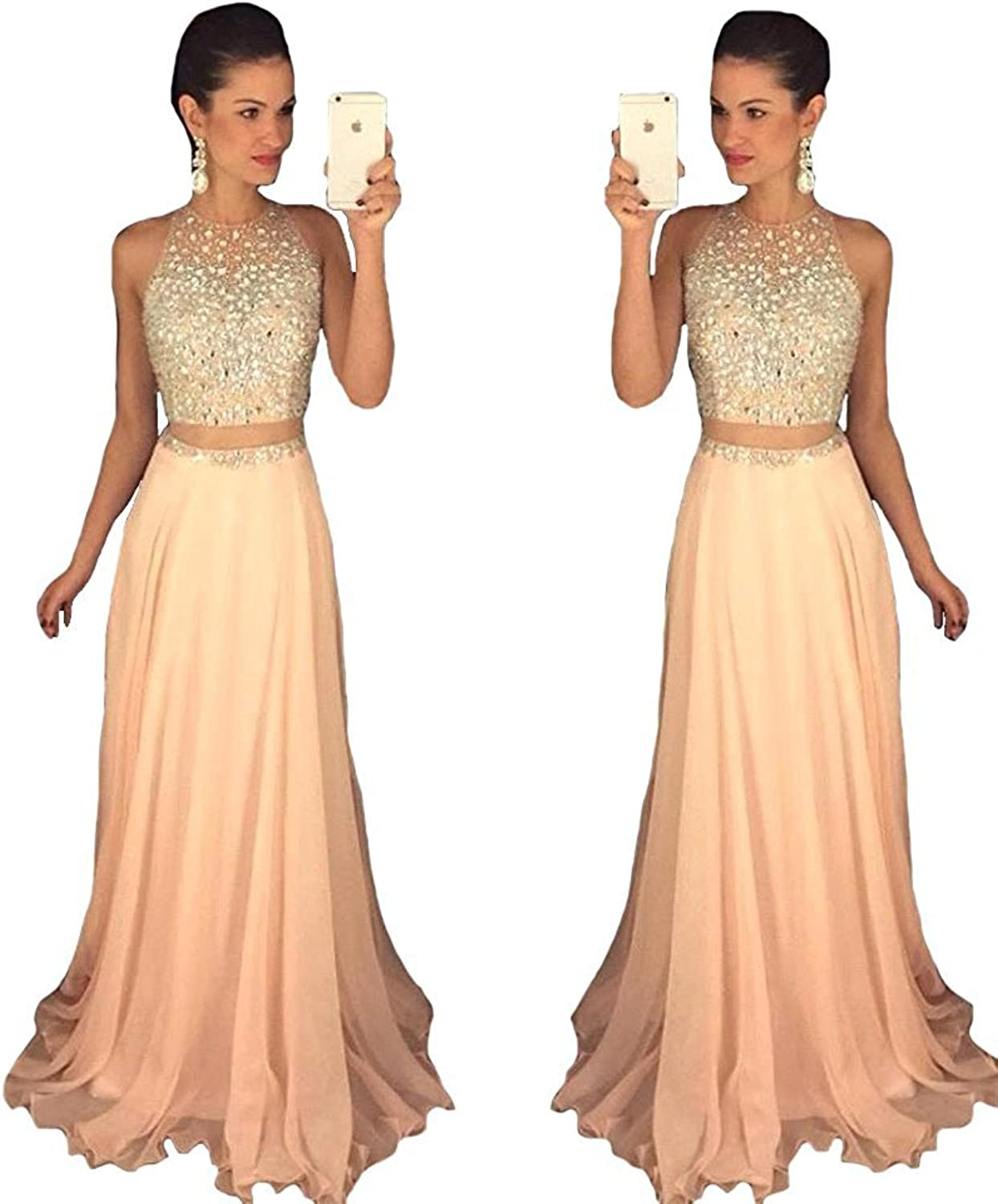YuNuo 2019 Prom Dresses Beading Prom Dresses Long Evening Gown