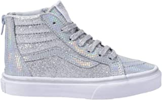 527ae7c7aaa0 Vans Kids Sk8-Hi Zip (Little Kid Big Kid) Metallic Glitter Girl s