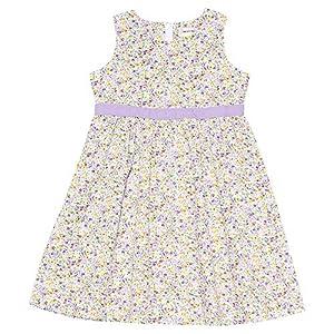 (ムーノンノン) MOONONNON子供服 女の子 ワンピース・ジャンパースカート ノースリーブ 普段着 お出かけ着 発表会 結婚式 小花柄ウエスト切り替えAライン パープル 160cm