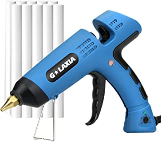 Hot Melt Gule Gun, GALAXIA 100W Heavy Duty Hot Glue Gun with 10pcs Glue Sticks and Temperature Adjustable(100℃-220℃) for Home Repairs, Plastic, Paper Card, Fabric Adhesive Kit…