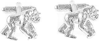 Gorilla 3D Pair Monkey Cufflinks in a Presentation Gift Box & Polishing Cloth