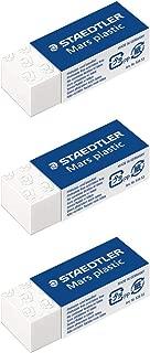STAEDTLER Mars Plastic Eraser Pack Of 3Plastic Mini, White