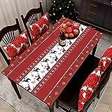 MJIA Cubierta de Mesa de decoración del hogar navideña, Mantel de Fiesta Rectangular, Mesa de Centro Impermeable y Mantel a Prueba de Aceite M-2 140x210cm