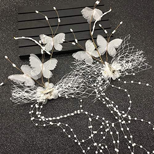 XNheadPS Brautspitze-Schmetterlingshaarzusätze schöner Handhaarnadel-Hochzeitskleiderkostümkopfschmuck