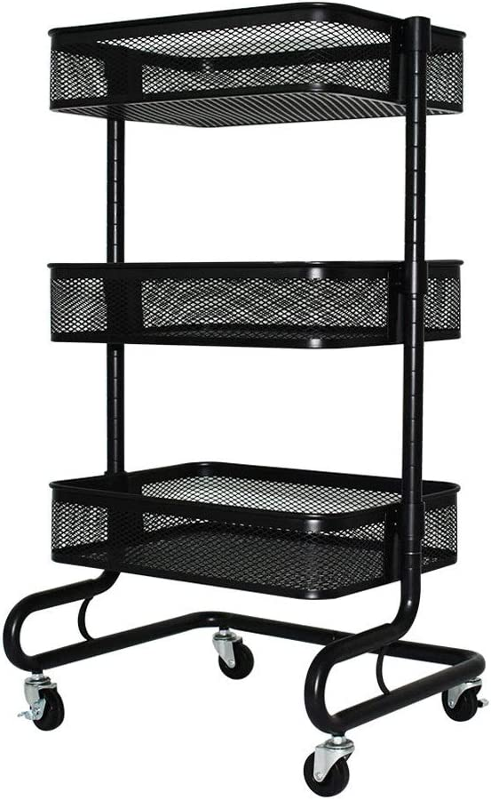 Kitchen Storage Organiser Trolley Wheels A surprise price is realized Standing Bas Free Shelf 35% OFF