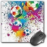 Mouse Pad Gaming Funcional Conjunto de deportes Alfombrilla de ratón gruesa impermeable para escritorio Salpicaduras de colores por todo el balón de fútbol Puntuación Campeonato mundial Impresión artí