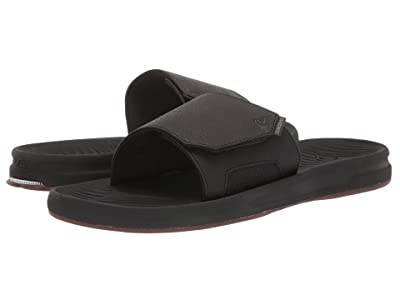 Quiksilver Travel Oasis Slide (Black/Black/Brown 1) Men