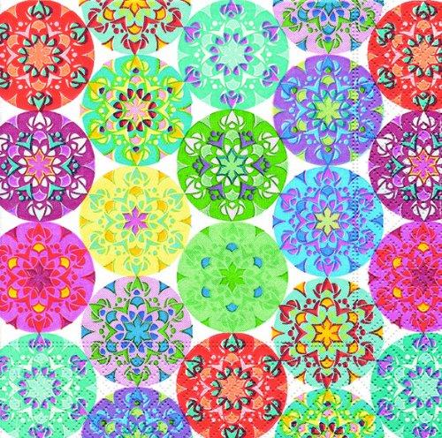 20 Servietten Mandala Multi/Muster/Kreise 33x33cm