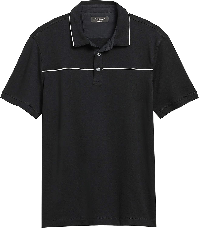 Banana Republic Factory Men's 571373 Chest Piping Dress Polo Shirt