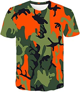 Camiseta para Hombre Moda para Hombre Deportes Fitness 23 Camuflaje Camisa 3DT de Manga Corta Camisa para camuflaje-TXA1087_M