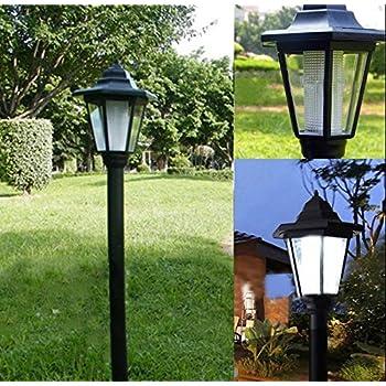 Farol solar para exterior, lámpara solar para jardín, color blanco ...