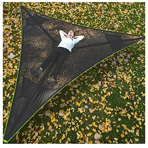 Revolutionary Giant Aerial Camping Hammock - Multi Person Outdoor Hammock Triangle Aerial Mat, Tree House Air Sky Tent, Portable Heavy Duty Hammock for Camping, Travel, Backyard, Patio, Garden