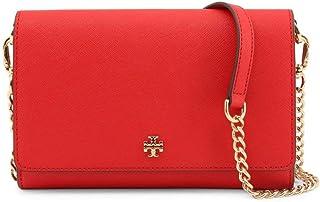 Tory Burch Women's Emerson Chain Wallet Crossbody Bag (Brilliant Red)
