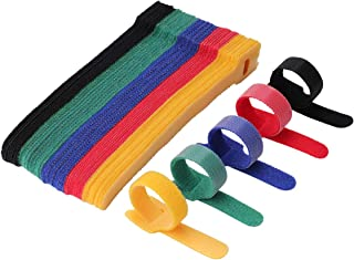 ケーブル 結束マジックテープ バンドケーブルまとめコード 収納コードまとめタイラップ繰り返し利用可能 マネージメントタイラップ 50本 (5色)