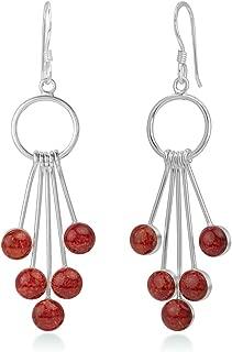 925 Sterling Silver Inlay Dangling Snow Balls Elegant Long Dangle Hook Earrings for Women 2