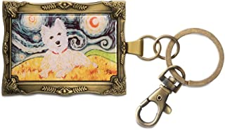 Pavilion Gift Company 12025 Paw Palettes Keychain, 2 by 2-3/4-Inch, West Highland Terrier Van Growl
