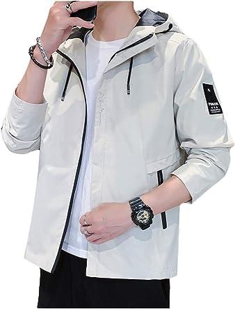 ジャケット メンズ 秋冬 コート ジッパー ブルゾン フード付き 防風防寒 メンズ 服 おしゃれ 無地 おおきいサイズ 白 3XL